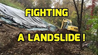 Fighting a Landslide - Heavy Equipment against Natural Disaster