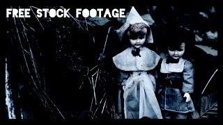 'CREEPY PILGRIM DOLLS' Free Stock Footage
