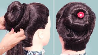 new bun hairstyles for girls || easy hairstyles for party/wedding || beautiful Hairstyles 2019