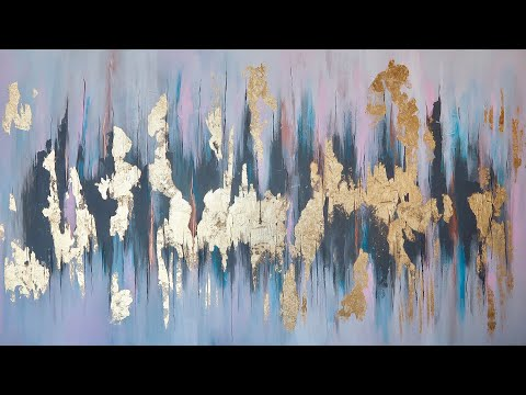 How To | GOLD LEAF ABSTRACT PAINTING