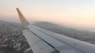 Landing at Istanbul airport Sabiha Gokcen with Pegasus Airlines.