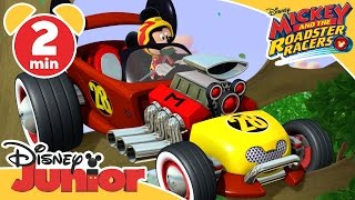 Mickey and the Roadster Racers | Mickey's Wild Tyre! | Disney Junior UK