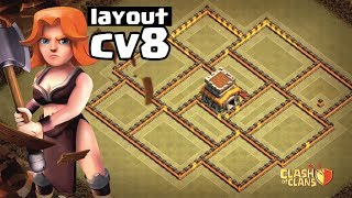 MELHOR LAYOUT CV8 GUERRA 2018 | NEW WAR BASE TH8 | CLAHS OF CLANS