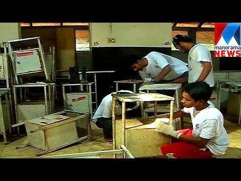 Kasargode engineering students set an example by rearing obsolete furniture      Manorama News