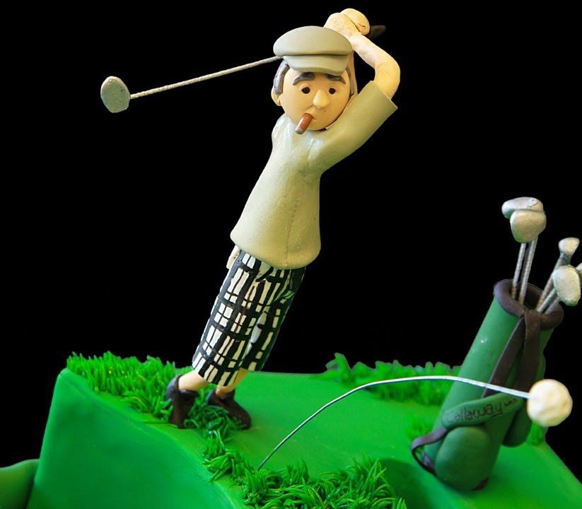 Golfers 50th Birthday Cake