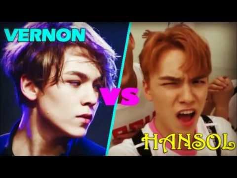 ▲Seventeen Vernon vs Hansol▲