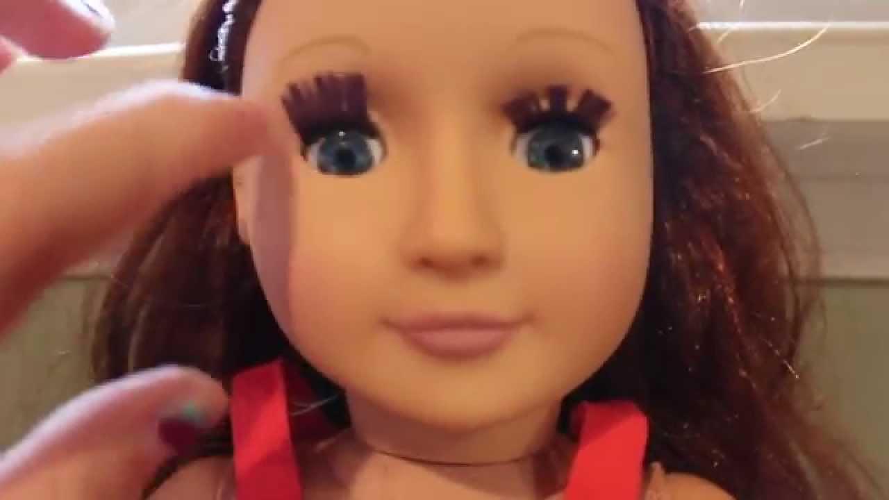 How To Make Ag Doll False Eyelashes Youtube
