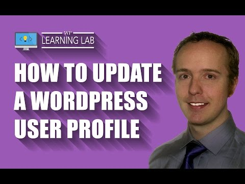 WordPress User Profile - How To Update It - WP Learning Lab - 동영상
