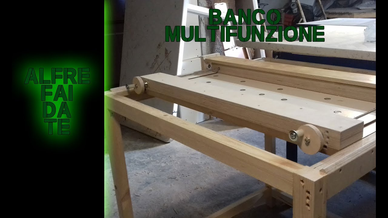 Banco multifunzione alfre fai da te youtube for Banco fresa legno