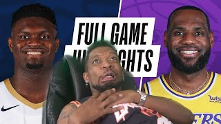 LEBRON IS SHOOTING 40% FROM DEEP!!! WTF* PELICANS at LAKERS | FULL GAME HIGHLIGHTS