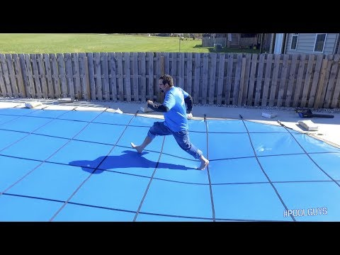 Solid Winter Pool Cover | #PoolGuys