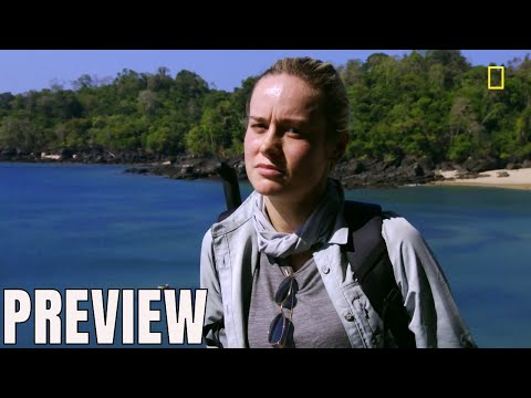 Captain Marvel's Brie Larson - Running With Bear Grylls Clip