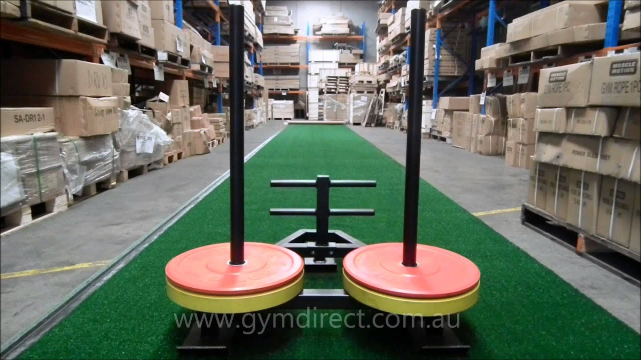 Gym Directs Astro Turf Track With The Heavy Duty Prowler