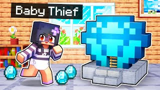 My BABY Thief's SECRET Minecraft Base!