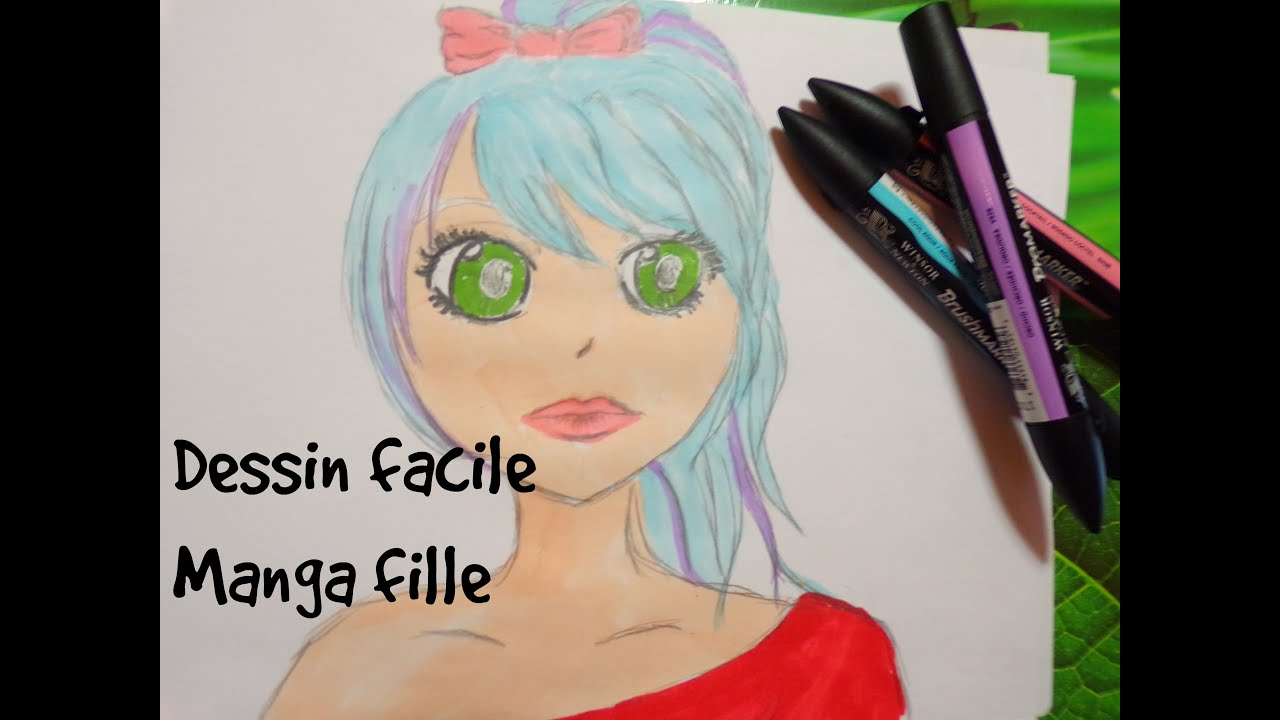 Dessin Facile Manga Fille Youtube