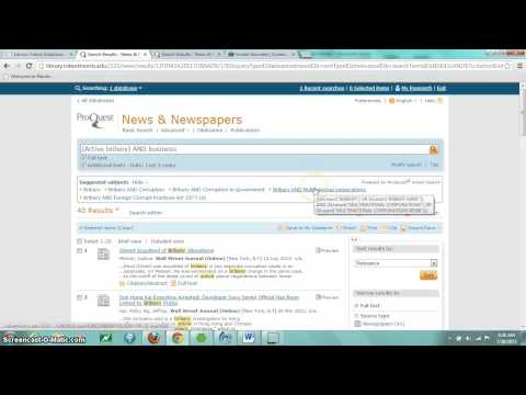 MGT 282 database search In the News