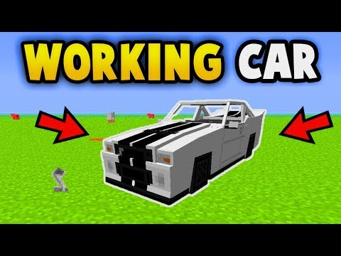 MINECRAFT : How To Get A Working  Car (No Mods) (Ps3/Xbox360/PS4/PE/XboxOne/WiiU)