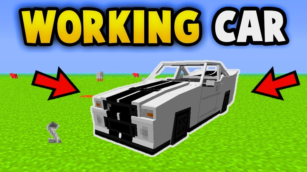 MINECRAFT : How To Get A Working Car (No Mods) (Ps3/Xbox360/PS4/PE