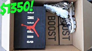 "Unboxing A $1350 Sneaker Mystery Box! | ""HALF THE BOX WAS YEEZYS!"""