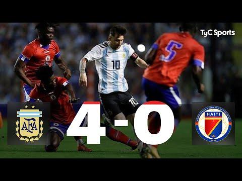 Goles Argentina 4-0 Haití