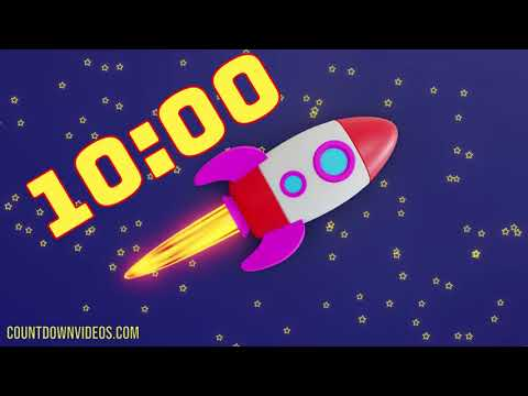Classroom 10 Minute ? Rocket Timer With Music For Kids ♫ ♬