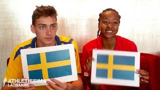 Switzerland vs Sweden | Sarah Atcho and Mondo Duplantis