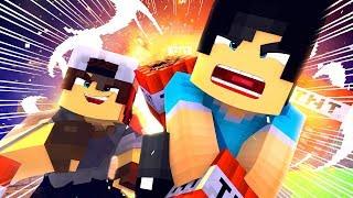 Minecraft: CORRIDA PVP - CANHÃO DE TNT!