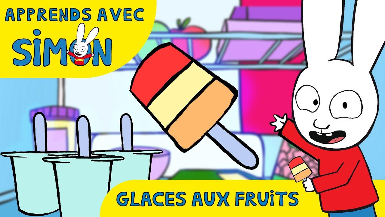 Simon - Super Méga Giga Glaces Multicolores aux Fruits *Recette pour enfants* [Cuisine avec Simon]