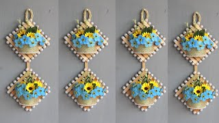 Diy Wall Decor | Popsicle Stick Crafts Ideas | Hiasan Dinding Dari Stik Es Krim Dan Dan Kain Flanel