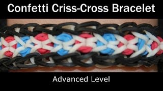 Rainbow Loom® Confetti Criss-Cross  Bracelet