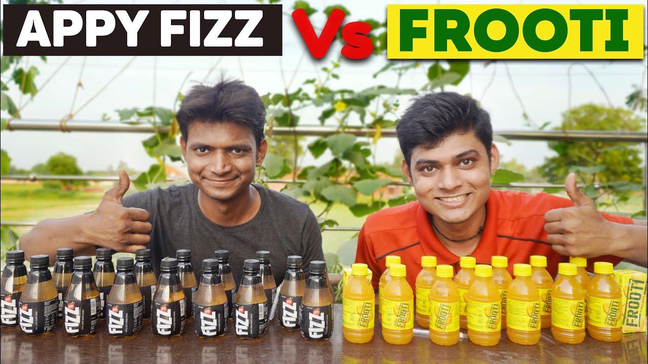 Appy Fizz Vs Frooti Drink Challenge | Apple Vs Mango Juice Drink Challenge | Bhukkad no 1
