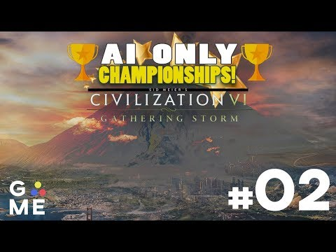 AI ONLY Championship - ALL CIVS | Civilization 6: Gathering Storm | Episode #2
