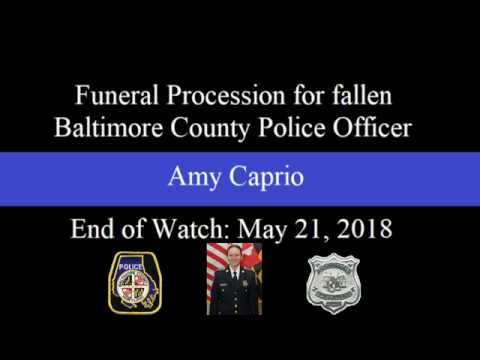 Funeral Procession for Fallen Baltimore County Police Officer Amy Caprio
