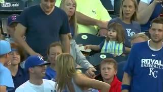 Kid Steals Baseball From Girl