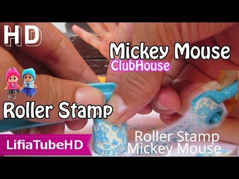 Little Hand Roller Seal Stamper - Mainan Anak Stempel Gambar Mickey Mouse - Kids Toy