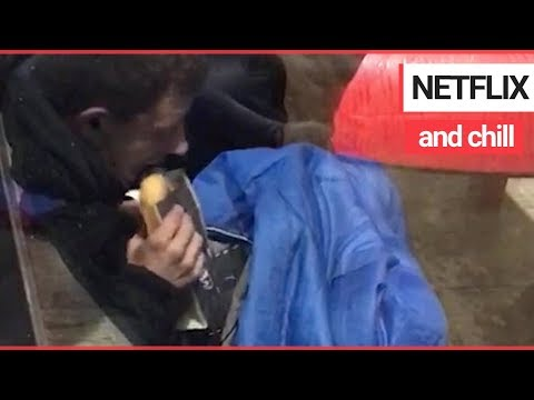 Street beggar asking for cash - while watching his tablet | SWNS TV