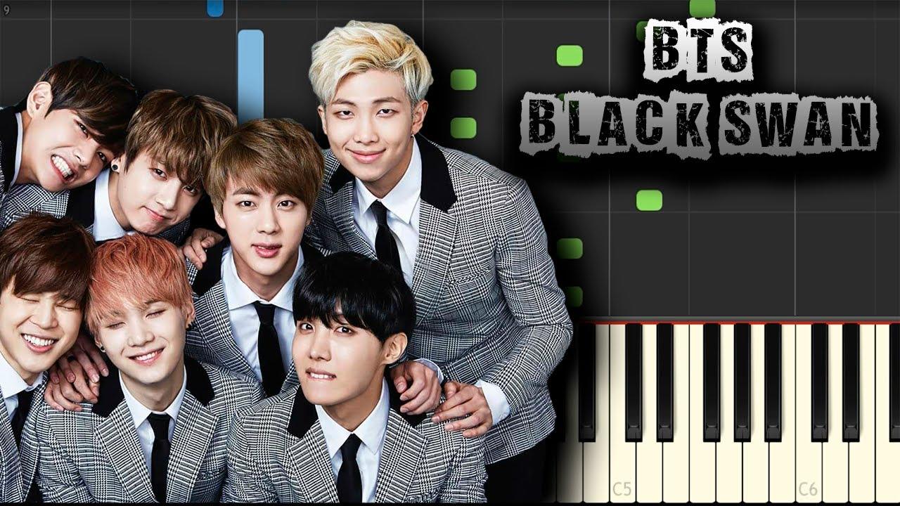 BTS - Black Swan - [Piano Tutorial] (Synthesia) (Download MIDI + PDF Scores)