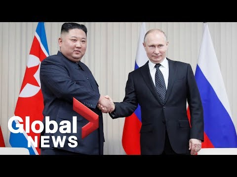 Kim Jong Un and Putin hold first-ever summit meeting