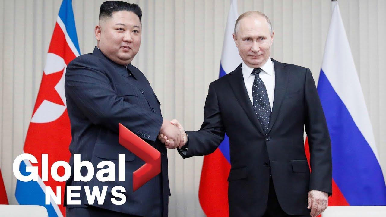 Kim Jong Un And Putin Hold First Ever Summit Meeting Youtube