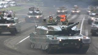 Japanese Military Parade 陸上自衛隊富士学校観閲行進2014