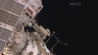 Russian cosmonauts make their first spacewalk at International Space Station