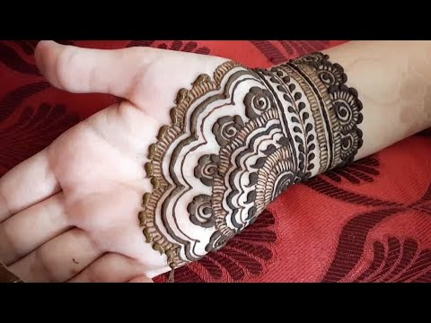 Easy and beautiful palm henna design