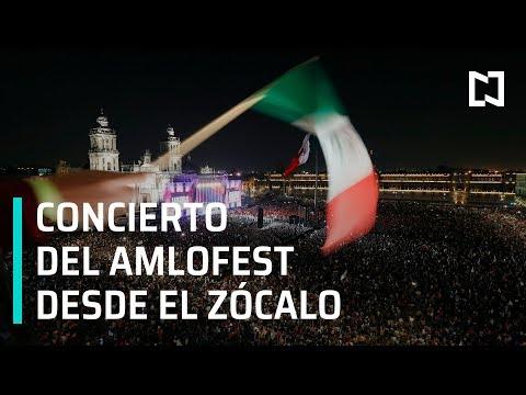 Concierto del AMLO Fest desde el Zócalo de la CDMX