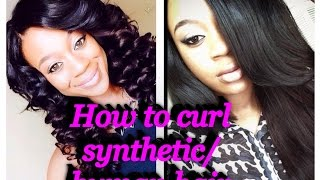 *YEEES YOU CAN CURL SENSATIONNEL YAKY NATURAL HAIR SYNTHETIC/HUMAN HAIR!.WATCH ME!..*
