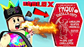 ROBLOX | ONE CHIP CHALLENGE :O (With Bloopers)