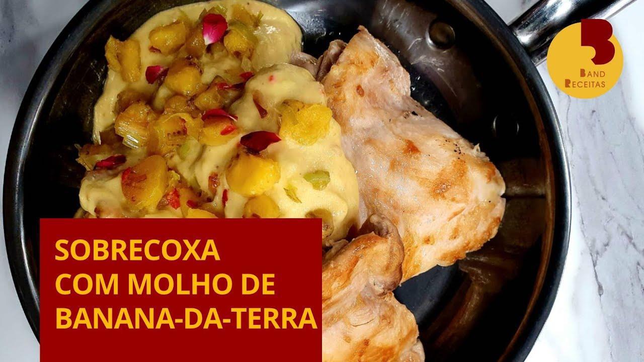 Sobrecoxa com molho de banana-da-terra | Edu Guedes | The Chef