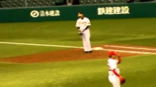 山中達也-下窪陽介(2010年プロ野球12球団合同トライアウト@西武ドーム)