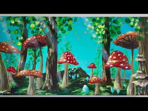 Beginner Simple Easy Paintings Mushroom Marie 039 S Mushroom Paintings And Drawings