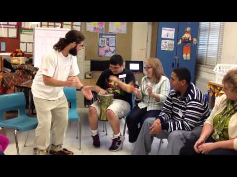 Weekly Music Class with Special Needs, Central Falls HS, RI Oct.2013
