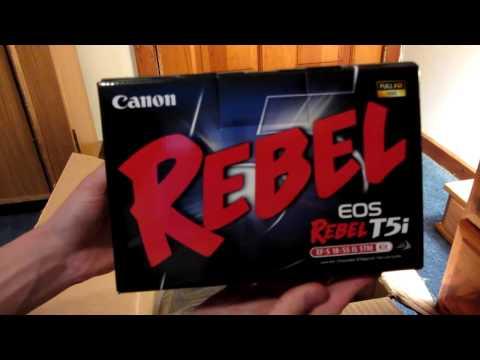 Canon EOS Rebel T5i DSLR Camera Bundle Unboxing HD